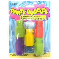 5 mini bouteilles de bulles