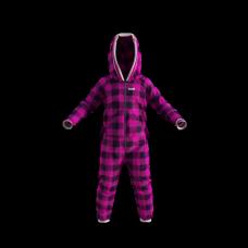 Pyjama une pièce à carreaux roses et noirs pour enfant