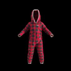 Pyjama une pièce à carreaux rouges et noirs pour enfant