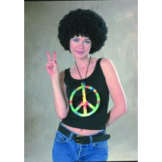 Collier peace de hippie pour adulte