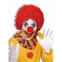 Perruque de clown afro rouge