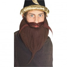 Grande barbe et moustache brune
