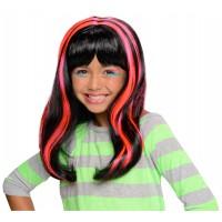 Perruque bande rose pour enfant