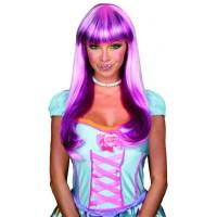 Perruque violette pour femme