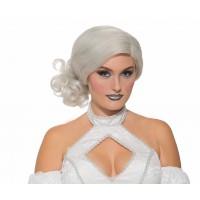 Perruque blanche élégante