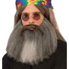 Moustache et barbe de Hippie