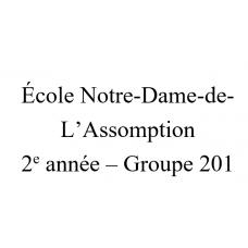 Notre-Dame-de-l'Assomption 2e année(201) 2021-2022