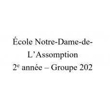 Notre-Dame-de-l'Assomption 2e année(202)  2021-2022