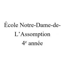 Notre-Dame-de-l'Assomption 4e année 2021-2022