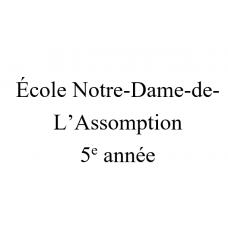 Notre-Dame-de-l'Assomption 5e année 2021-2022