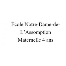 Notre-Dame-de-l'Assomption Maternelle 4 ans 2021-2022