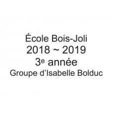 3e année - Isabelle Bolduc