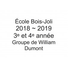 3e - 4e année - William Dumont