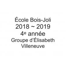 4e année - Élisabeth Villeneuve