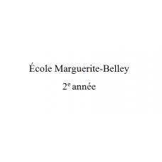 Marguerite-Belley 2e année 2021-2022