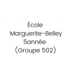 Marguerite-Belley 5e année (502) 2021-2022