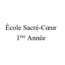 École Sacré-Coeur 1ère année 2021-2022