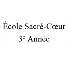 École Sacré-Coeur 3e année 2021-2022
