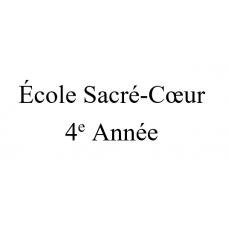 École Sacré-Coeur 4e année 2021-2022