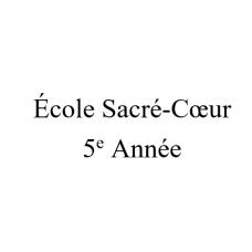 École Sacré-Coeur 5e année 2021-2022