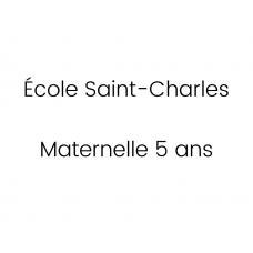 École Saint-Charles Maternelle 5 ans 2021-2022