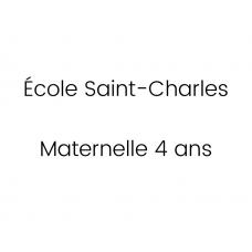 École Saint-Charles Maternelle 4 ans 2021-2022
