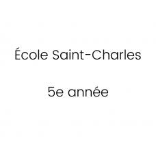 École Saint-Charles 5e année 2021-2022