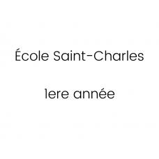 École Saint-Charles 1ère année 2021-2022