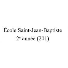 École Saint-Jean-Baptiste - 2e année (Groupe 201) 2021-2022