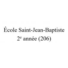 École Saint-Jean-Baptiste - 2e année (Groupe 206) 2021-2022