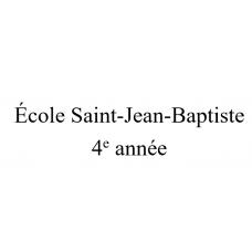 École Saint-Jean-Baptiste 4e année 2021-2022
