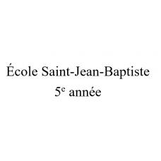 École Saint-Jean-Baptiste 5e année 2021-2022