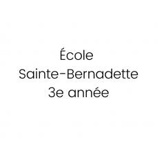 École Sainte-Bernadette 3e année 2021-2022
