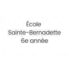École Sainte-Bernadette 6e année 2021-2022