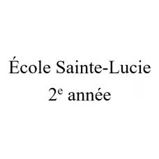 École Sainte-Lucie 2e année 2021-2022