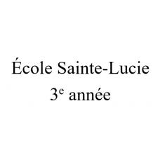 École Sainte-Lucie 3e année 2021-2022