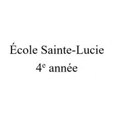 École Sainte-Lucie 4e année 2021-2022
