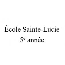 École Sainte-Lucie 5e année 2021-2022