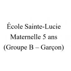 École Sainte-Lucie Maternelle 5 ans (groupe B - Garçon) 2021-2022
