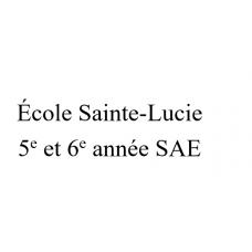 École Sainte-Lucie 5-6e année SAE 2021-2022