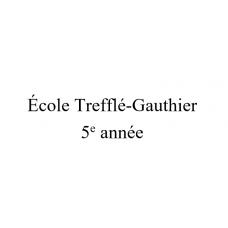 École Trefflé-Gauthier 5e année 2021-2022