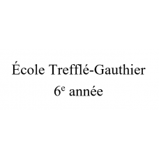 École Trefflé-Gauthier 6e année 2021-2022