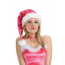 Chapeau de Père Noël Rose