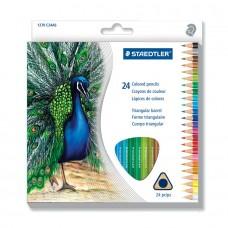 Paquet de 24 crayons de couleur triangulaire en bois Staedtler