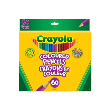 Paquet de 60 crayons de couleur de bois Crayola