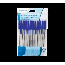 Paquet de 12 stylos à bille bleu