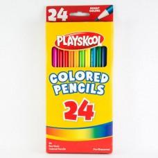 Paquet de 24 crayons de couleur en bois Playskool