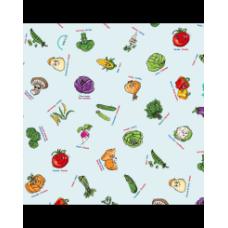 Nappes éducatives à colorier - Les légumes -Bimoo